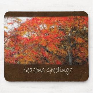 Ariana Autumn Leaves 1 Seasons Greetings Mouse Pad
