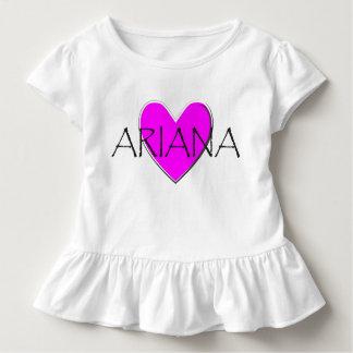 Ariana Pink Heart Toddler T-Shirt