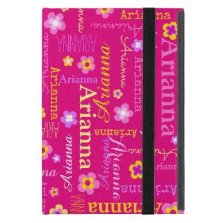 Arianna girls name text flower pink yellow case