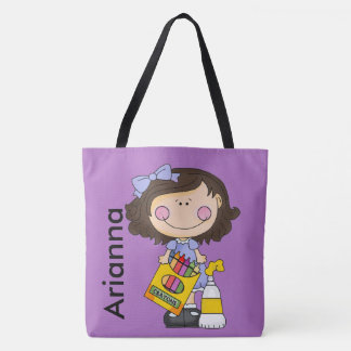 Arianna Loves Crayons Tote Bag