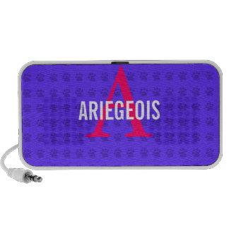 Ariegeois Breed Monogram Design Mini Speakers