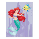Ariel and Flounder Post Card