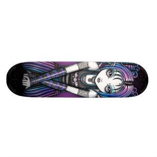 Ariel Gothic Big Eyed Emo Angel 21.6 Cm Old School Skateboard Deck