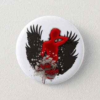 Ariel Rebel Flying logo - button