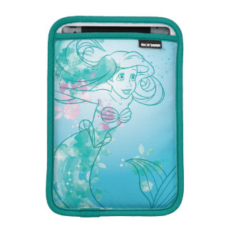 Ariel | Watercolor Outline iPad Mini Sleeve