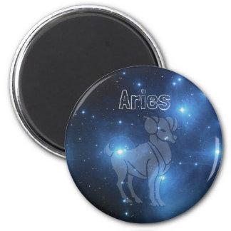 Aries 6 Cm Round Magnet