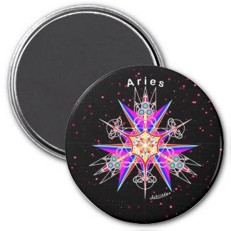Aries 7.5 Cm Round Magnet