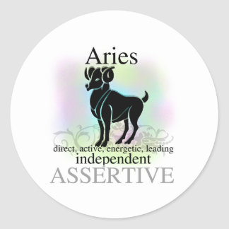 Aries About You Classic Round Sticker