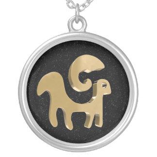 Aries, Ariete Round Pendant Necklace
