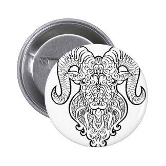 Aries Art 6 Cm Round Badge