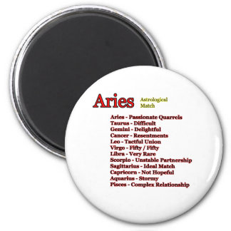 Aries Astrological Match The MUSEUM Zazzle Gifts 6 Cm Round Magnet