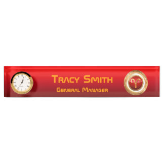 Aries Astrological Sign Desk Name Plates
