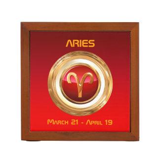 Aries Astrological Symbol Desk Organiser