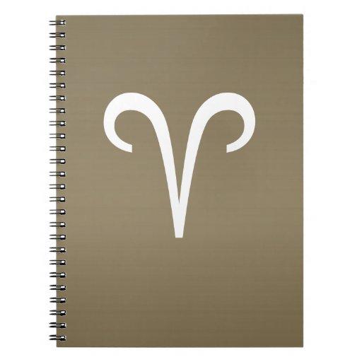 ARIES Astrology Zodiac Symbol Spiral Notebooks