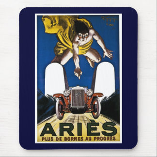 Aries Automobile - Vintage French Advertisement Mouse Pad