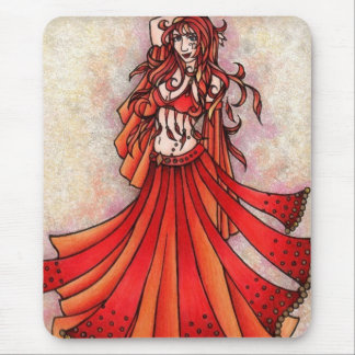 Aries Belly Dancer Art Mouse Pad