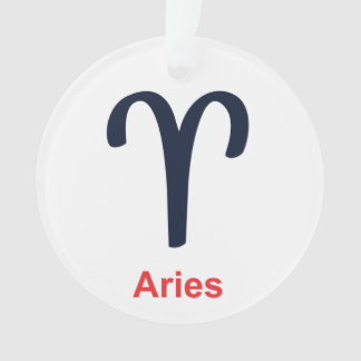 Aries Christmas Ornament