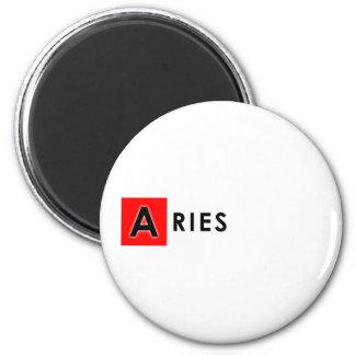 ARIES COLOR 6 CM ROUND MAGNET