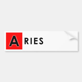 ARIES COLOR BUMPER STICKER