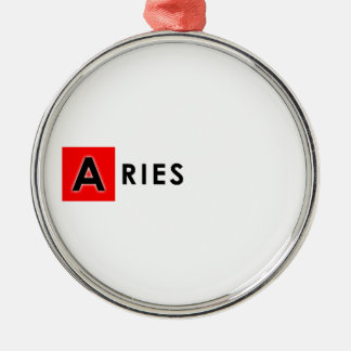 ARIES COLOR Silver-Colored ROUND DECORATION