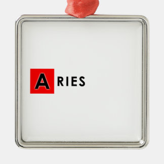 ARIES COLOR Silver-Colored SQUARE DECORATION