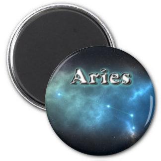 Aries constellation 6 cm round magnet