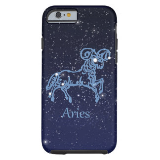 Aries Constellation and Zodiac Sign with Stars Tough iPhone 6 Case