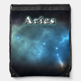 Aries constellation drawstring bag