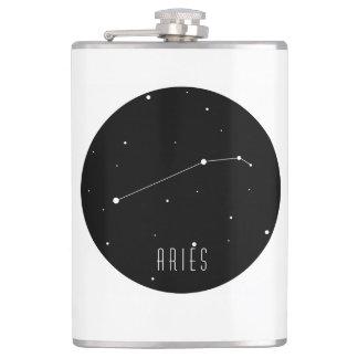 Aries Constellation Hip Flask