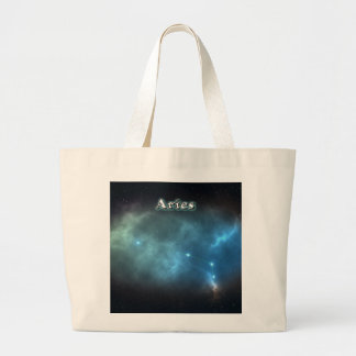 Aries constellation large tote bag