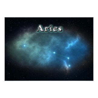 Aries constellation poster