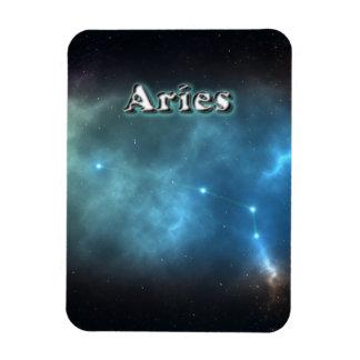 Aries constellation rectangular photo magnet