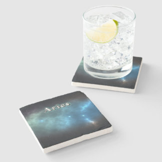 Aries constellation stone coaster