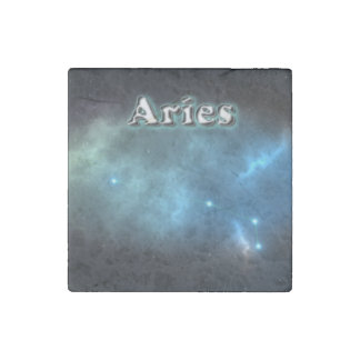 Aries constellation stone magnet