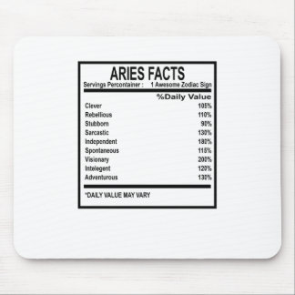 ARIES FACTS DISCRIPTION . MOUSE PAD