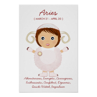 Aries - Girl Horoscope Poster