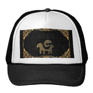 Aries golden sign cap
