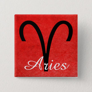 Aries, Horoscope Sign Ram Symbol Button