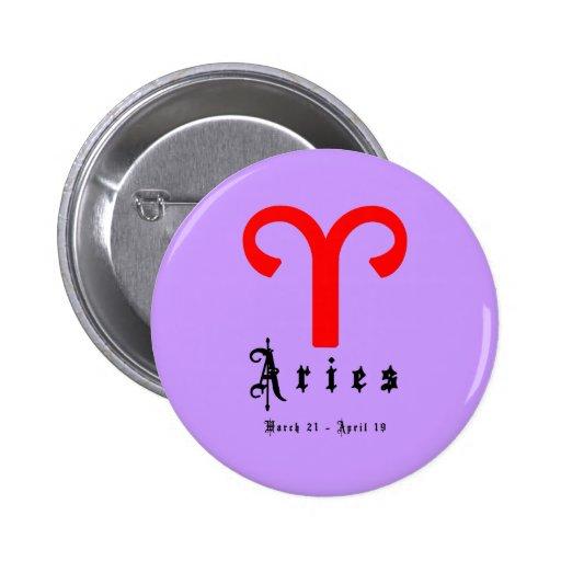 Aries, Horoscope, zodiac, astrology Pinback Buttons