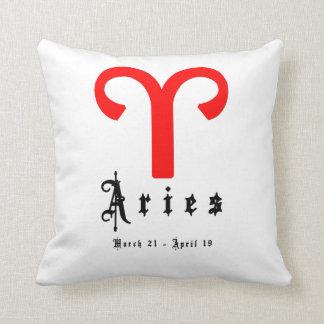 Aries, Horoscope, zodiac, astrology Throw Cushion