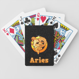 Aries illustration bicycle playing cards
