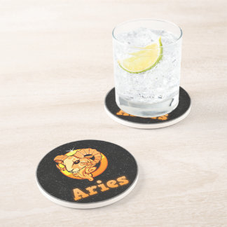 Aries illustration coaster