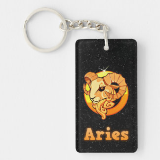 Aries illustration key ring