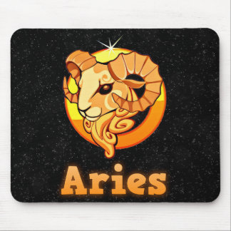 Aries illustration mouse pad