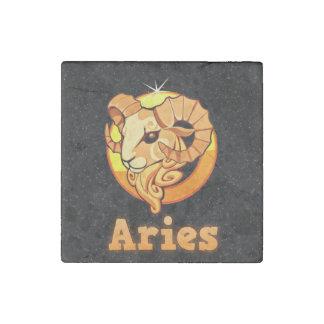 Aries illustration stone magnet