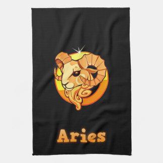 Aries illustration tea towel