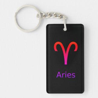 aries keychain black