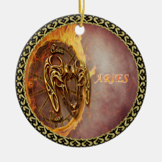 Aries March 21st until April 20th Horoscope Ceramic Ornament