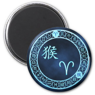 Aries/Monkey 6 Cm Round Magnet
