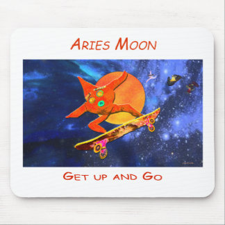 Aries Moon Mouse Pad